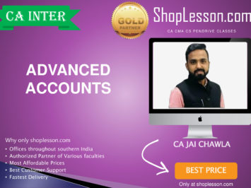 CA Intermediate Advanced Accounts Regular Course By CA Jai Chawla For Nov 2020 Onwards Video Lecture + Study Material