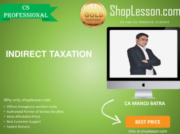 CS Professional New Syllabus IDT Regular Course By CA Manoj Batra For Dec 2020 Video Lecture + Study Material