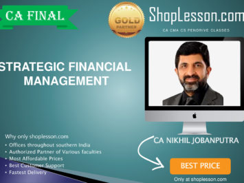 CA Final New Syllabus SFM Regular Course By CA Nikhil Jobanputra For May 2020 & Nov 2020 Video Lecture + Study Material