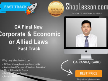 CA Final New Syllabus Corporate & Economic or Allied Laws Fast Track By CA Pankaj Garg For May 2020 & Nov 2020 Video Lecture + Study Material