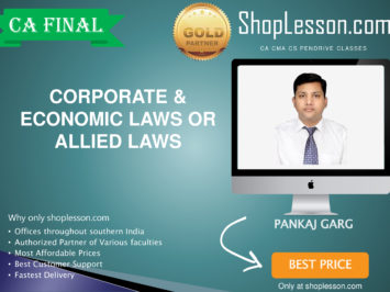 CA Final New Syllabus Corporate & Economic or Allied Laws Regular By CA Pankaj Garg For May 2020 & Nov 2020 Video Lecture + Study Material