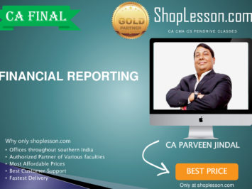 CA Final New Syllabus Financial Reporting Regular Course By CA Parveen Jindal For May 2020 & Nov 2020 Video Lecture + Study Material
