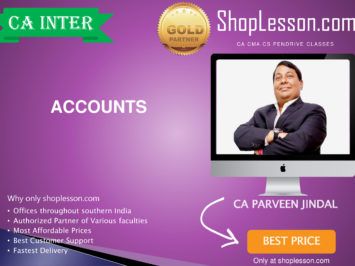 CA Intermediate Accounts Full Course By CA Parveen jindal For Nov 2020 Onwards Video Lecture + Study Material