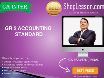 CA Intermediate GR 2 Accounting standard Full Course By CA Parveen jindal For Nov 2020 Onwards Video Lecture + Study Material