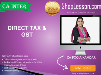 CA Intermediate Taxation (DT & GST Regular Course By CA Pooja Kamdar For Nov 2020 Onwards Video Lecture + Study Material