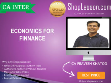 CA Intermediate Economics Regular Course By CA Praeen Khatod For Nov 2020 Onwards Video Lecture + Study Material