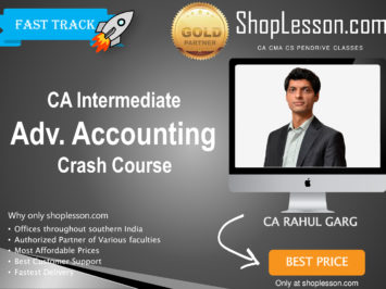CA Intermediate Advance Accounting Crash Course By CA Rahul Garg For Nov 2020 Onwards Video Lecture + Study Material