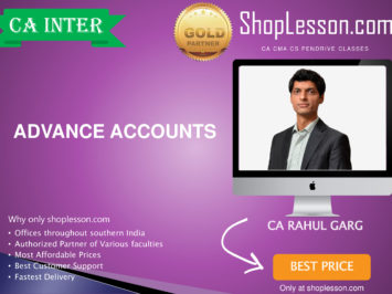 CA Intermediate Advance Accounts Regular Course By CA Rahul Garg For Nov 2020 Onwards Video Lecture + Study Material