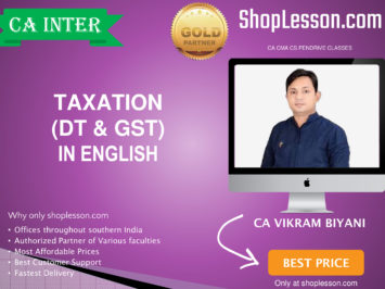 CA Intermediate Taxation (DT + GST In English Regular Course By CA Vikram Biyani For Nov 2020 Onwards Video Lecture + Study Material