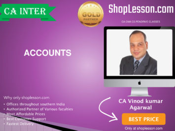 CA Intermediate Accounts Regular Course By CA Vinod Kumar Agarwal For Nov 2020 Onwards Video Lecture + Study Material