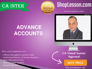 CA Intermediate Advanced Accounts Regular Course By CA Vinod Kumar Agarwal For Nov 2020 Onwards Video Lecture + Study Material