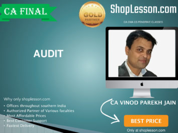 CA Final New Syllabus Audit Regular Course By CA Vinod Parakh Jain For May 2020 & Nov 2020 Video Lecture + Study Material