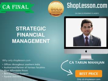 CA Final New Syllabus SFM Regular Course By CA Tarun Mahajan For May 2020 & Nov 2020 Video Lecture + Study Material