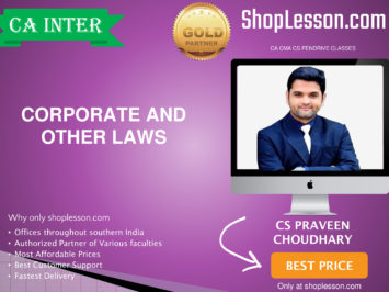 CA Intermediate Corporate And Other Laws Regular Course By CS Praveen Choudhary For Nov 2020 Onwards Video Lecture + Study Material