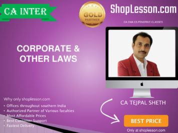 CA Intermediate Corporate & Other Laws Regular Course By CS Tejpal Sheth For Nov 2020 Onwards Video Lecture + Study Material
