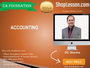 CA Foundation Accounting By DG Sharma For Nov 2020 Onwards Video Lecture + Study Material