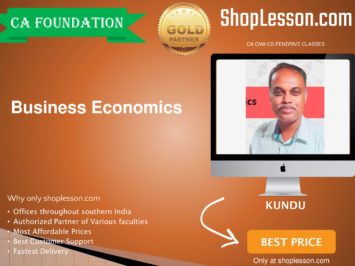 CA Foundation Business Economics Regular Course By Kundu Sir For Nov 2020 Onwards Video Lecture + Study Material