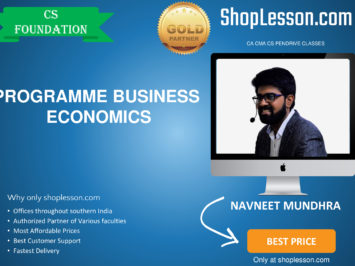 CS Foundation – Programme, Elementary Statistics Regular Course By Navneet Mundhara Sir For Dec 2020 Video Lecture + Study Material