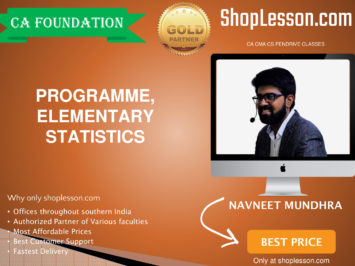 CA Foundation Programme, Elementary Statistics Regular Course By Navneet Mundhra Sir For Nov 2020 Onwards Video Lecture + Study Material