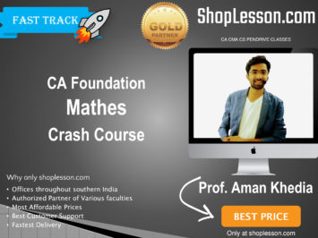 CA Foundation Mathes Crash Course By Prof. Aman Khedia For Nov 2020 Onwards Video Lecture + Study Material
