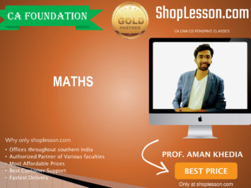CA Foundation Mathes Regular Course By Prof. Aman Khedia For Nov 2020 Onwards Video Lecture + Study Material