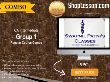 CA Intermediate Group 1 Regular Course Combo By SPC For Nov 2020 Onwards Video Lecture + Study Material