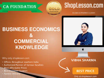 CA Foundation Business Economics & Commercial Knowledge By Vibha SharmaFor Nov 2020 Onwards Video Lecture + Study Material