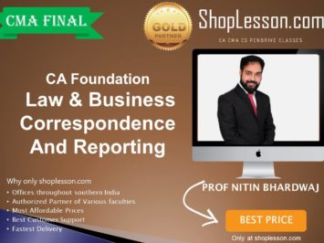 CA Foundation Law & Business Correspondence And Reporting Regular Course By Prof. Nitin Bhardwaj For Nov 2020 Onwards Video Lecture + Study Material