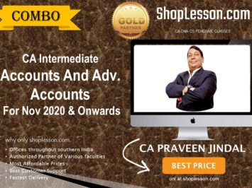 CA Intermediate Accounts And Adv. Accounts Combo Regular Course By CA Parveen Jindal For Nov 2020 Onwards Video Lecture + Study Material