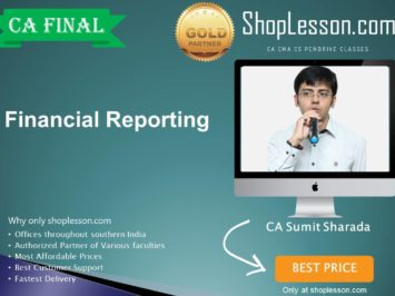 CA Final New Syllabus Financial Reporting Regular Course By CA Sumit Sharda For May 2020 & Nov 2020 Video Lecture + Study Material