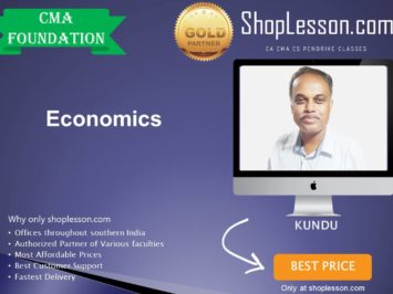 CMA Foundation – Economics By Kundu For Dec 2020 Video Lecture + Study Material