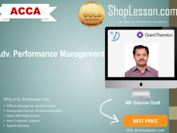 ACCA by VGLD – Advance Performance Management  by Mr Gaurav Dutt in Google Drive/Pen Drive/Online