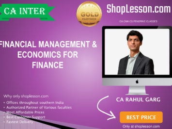 CA Intermediate FM Regular Course By CA Rahul Garg For Nov 2020 Onwards Video Lecture + Study Material