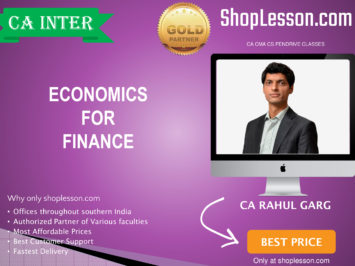 CA Intermediate Only Economics By CA Rahul Garg For Nov 2020 Onwards Video Lecture + Study Material