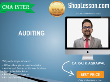 CMA Inter – Auditing Regular Course By CA Raj Agrawal For Dec 2020 Video Lecture + Study Material