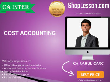 CA Intermediate Cost Accounting By CA Rahul Garg For Nov 2020 Onwards Video Lecture + Study Material