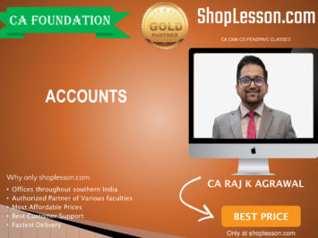 CA Foundation Accounts Regular Course By CA Raj Agrawal For Nov 2020 Onwards Video Lecture + Study Material