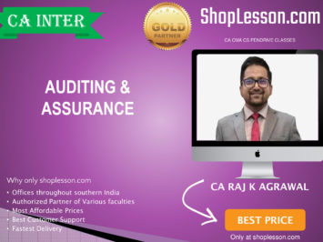 CA Intermediate Audit Regular Course By CA Raj Agrawal For Nov 2020 Onwards Video Lecture + Study Material