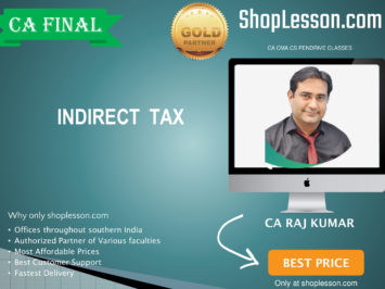 CA Final New Syllabus Indirect Tax Regular By CA Rajkumar For May 2020 & Nov 2020 Video Lecture + Study Material