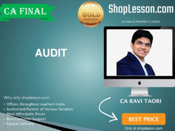 CA Final New Syllabus Audit Regular Course By CA Ravi Taori For May 2020 & Nov 2020 Video Lecture + Study Material