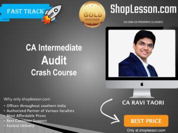 CA Intermediate Audit Crash Course By CA Ravi Taori For Nov 2020 Onwards Video Lecture + Study Material