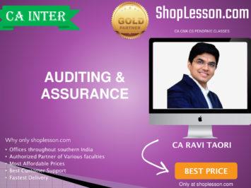 CA Intermediate Audit Regular Course By CA Ravi Taori For Nov 2020 Onwards Video Lecture + Study Material