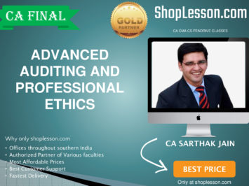 CA Final New Syllabus Audit By CA Sarthak Jain For May 2020 & Nov 2020 Video Lecture + Study Material