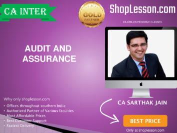 CA Intermediate Audit and Assurance Regular Course By CA Sarthak Jain For Nov 2020 Onwards Video Lecture + Study Material