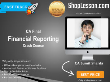 CA Final New Syllabus Financial Reporting Crash Course By CA Sumit Sharda For May 2020 & Nov 2020 Video Lecture + Study Material