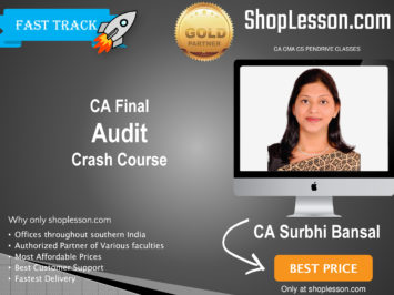 CA Final New & Old Syllabus Audit Crash Course By CA Surbhi Bansal For May 2020 & Nov 2020 Video Lecture + Study Material