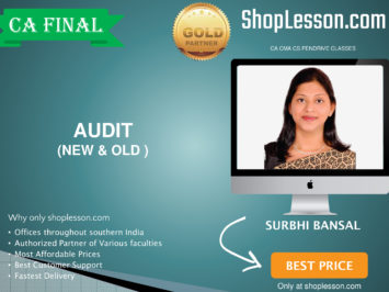 CA Final New & Old Syllabus Audit Regular Course By CA Surbhi Bansal For May 2020 & Nov 2020 Video Lecture + Study Material
