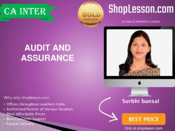 CA Intermediate Audit And Assurance Regular Course By CA Surbhi Bansal For Nov 2020 Onwards Video Lecture + Study Material