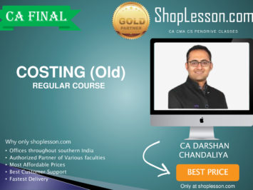 CA Final Old Syllabus AMA Regular Course By CA Darshan Chandaliya For May 2020 & Nov 2020 Video Lecture + Study Material
