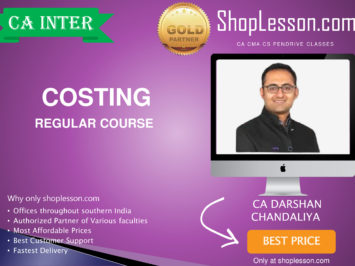 CA Intermediate Costing Regular Course By CA Darshan Chandaliya For Nov 2020 Onwards Video Lecture + Study Material